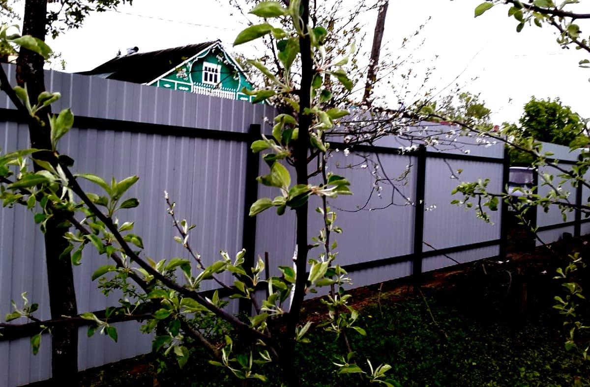 Забор из профнастила в Кольчугино