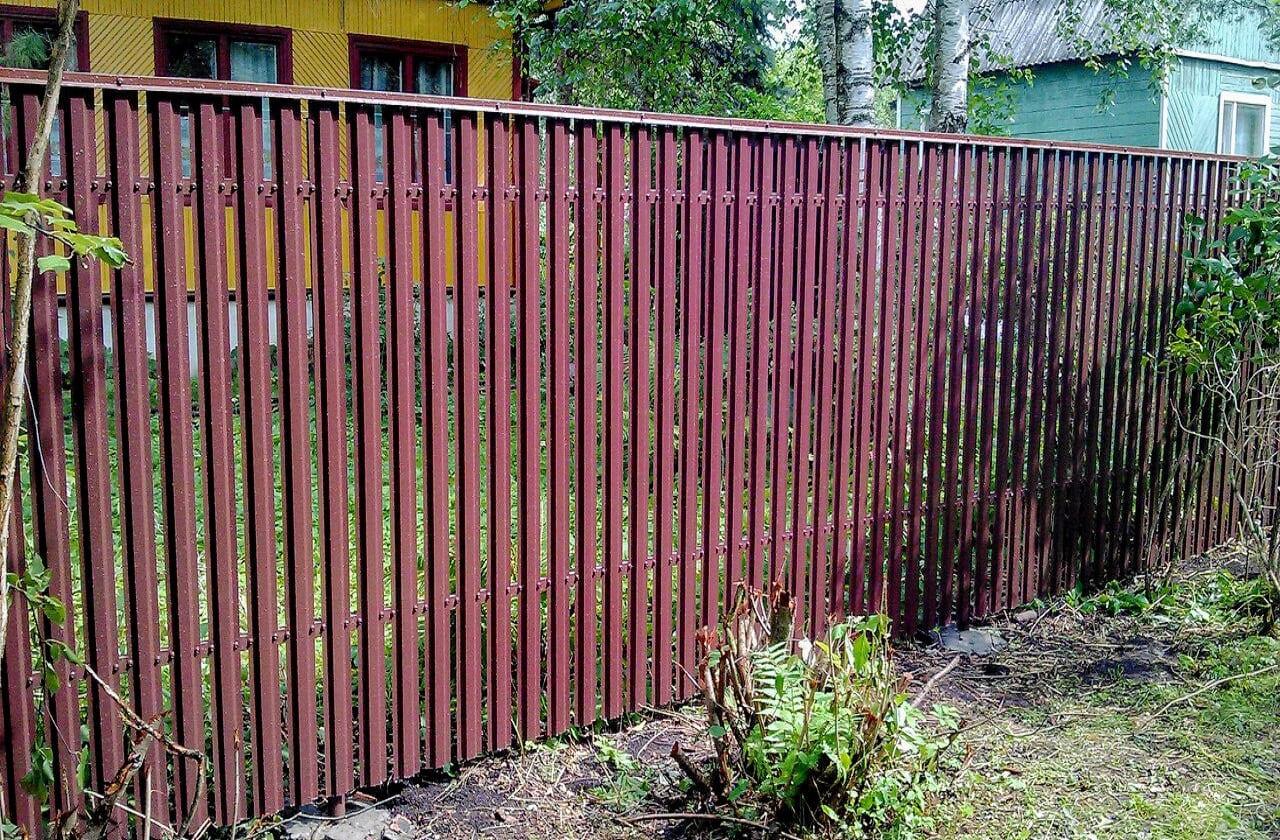 Забор из штакетника в Кольчугино